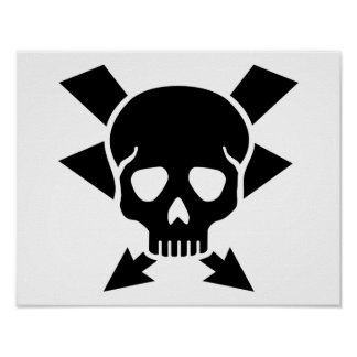 Electrician skull poster