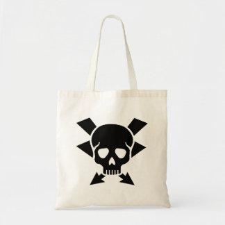 Electrician skull tote bag