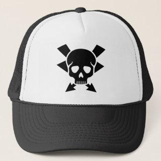 Electrician skull trucker hat