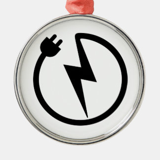 Electrician wire metal ornament