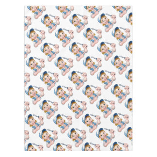 Electrician Woman Holding Screwdriver Tablecloth