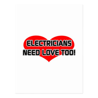 Electricians Need Love Too Postcard