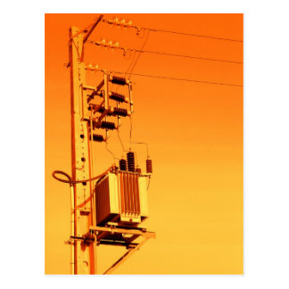 Electricity distribution equipment postcard