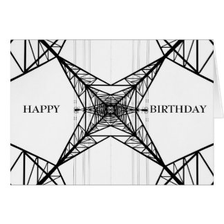 Electricity Pylon Greeting Card