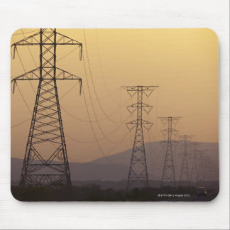 Electricity pylons mouse pad