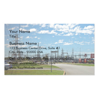 Electricity relay station business card