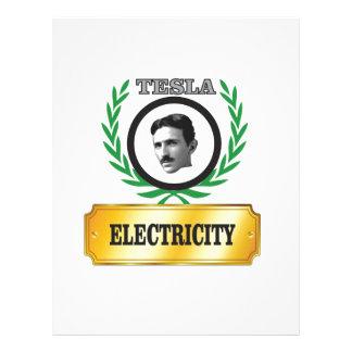 electricity tesla letterhead design