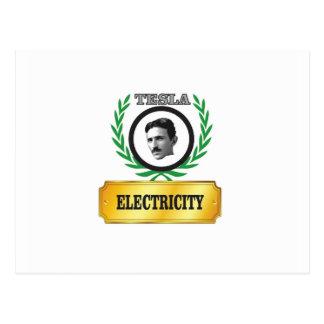 electricity tesla postcard