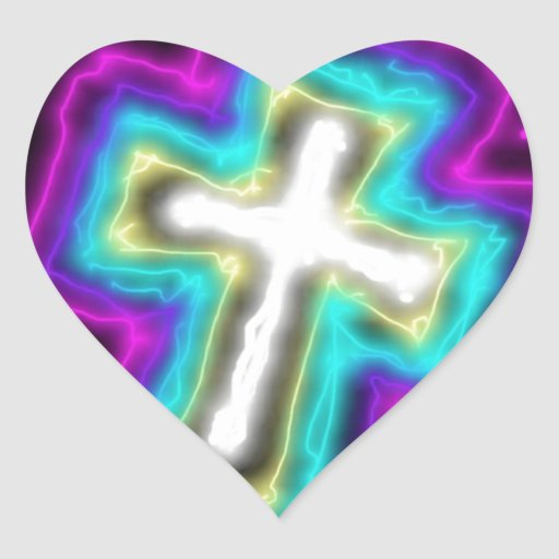 Electrified Cross. Stickers