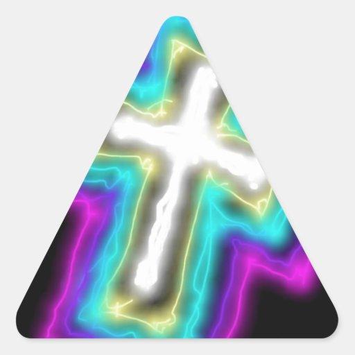 Electrified Cross. Sticker