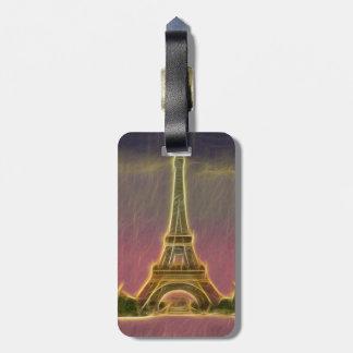 Electrified Eiffel Tower Luggage Tag