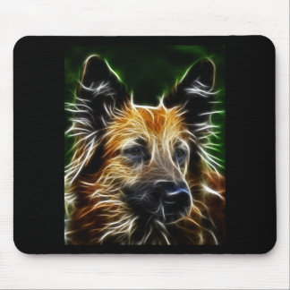 Electrified German Shepherd Mouse Pad