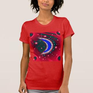 Electrifying Night Crescent Moon & Stars T-Shirt