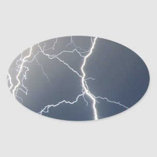 Electrifying!! Oval Sticker