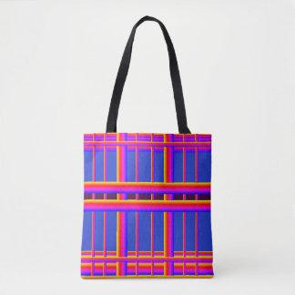 Electro-Funk Printed Tote