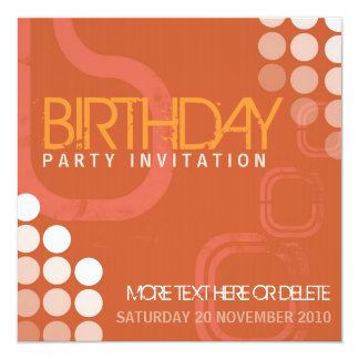 Electro Grunge Dance Party Birthday Invitation