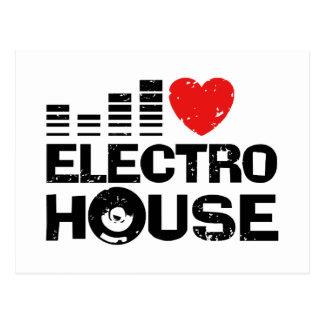 Electro House Postcard