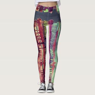 electro mellow color drip womens leggings