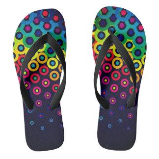 electro retro pop unisex flip flops