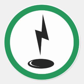 Electro spot round sticker