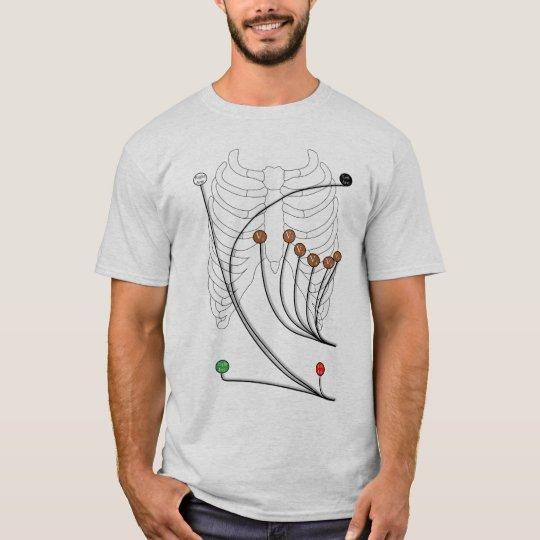 Electrocardiogram EKG / ECG Leads - Healthy Heart T-Shirt