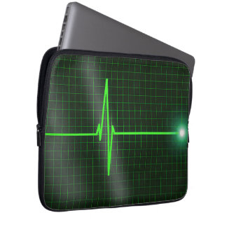 Electrocardiogram Waves Laptop Sleeve