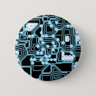 ElecTRON - Blue / Black 2 Inch Round Button
