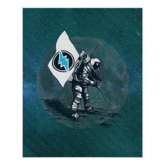 Electroneum Moon Flag Poster