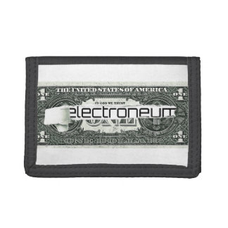 Electroneum ripped dollar bill trifold wallets