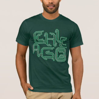 Electronic Chicago PCB T - Dark Green T-Shirt