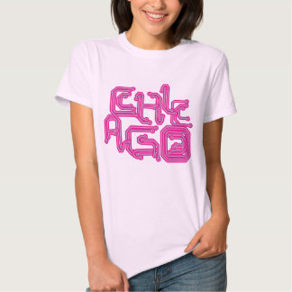 Electronic Chicago PCB T - Girly Pink Tees