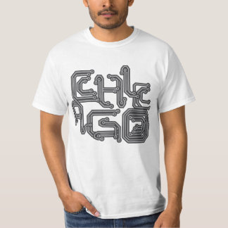 Electronic Chicago PCB T - White T-Shirt
