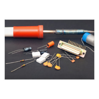 Electronic components photo print
