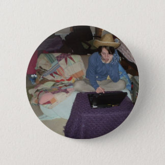 Electronic CowGirl 2 Inch Round Button