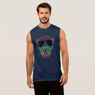 Electronic Dance Monkey EDM RAVE Festival Sleeveless Shirt