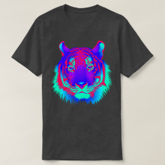 Electronic Dance Techno Neon Rave Tiger T-Shirt