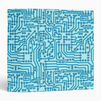 Electronic Digital Circuit Board Vinyl Binder