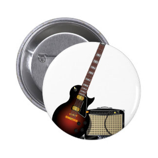 Electronic Guitar 2 Inch Round Button