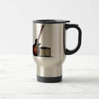 Electronic Guitar and Musical Amp 15 Oz Stainless Steel Travel Mug