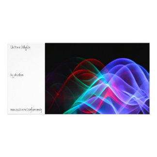 Electronic Jellyfish Photo Card Template