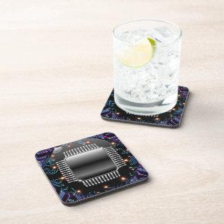 Electronic Motherboard Circuit Cork Coaster