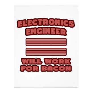 Electronics Engineer Will Work For Bacon Personalized Letterhead