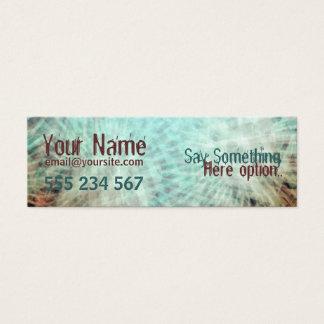 electrozArt #002 Profile Business Mini Business Card
