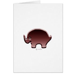 Elefante magenta greeting card