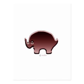 Elefante magenta postcards