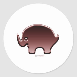Elefante magenta round sticker