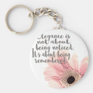 Elegance Basic Round Button Keychain