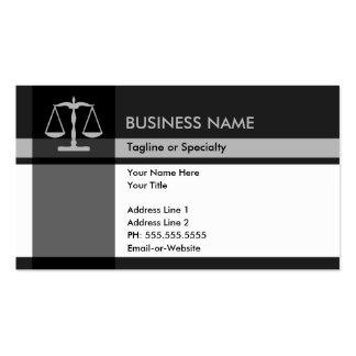 élégance de justice cartes de visite personnelles