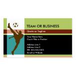 élégance du football cartes de visite professionnelles