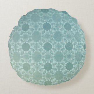 Elegance in Teal Round Pillow